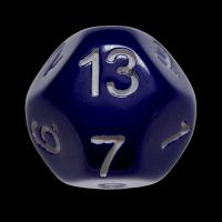 Impact Opaque Purple & White D13 Dice