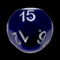 Impact Opaque Purple & White D15 Dice