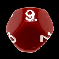 Impact Opaque Red & White D9 Dice