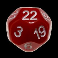 Impact Opaque Red & White D22 Dice