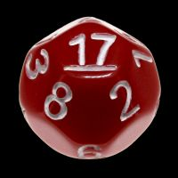 Impact Opaque Red & White D17 Dice