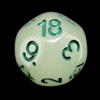 Impact Glow in the Dark & Green D18 Dice