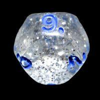 Impact Silver Glitter & Blue D9 Dice