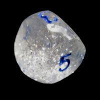 Impact Silver Glitter & Blue D5 Dice