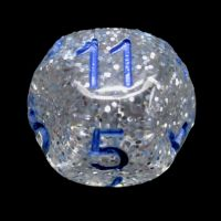 Impact Silver Glitter & Blue D11 Dice