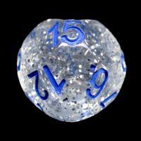 Impact Silver Glitter & Blue D15 Dice