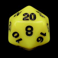 CLEARANCE Impact Opaque Yellow & Black Percentile Dice