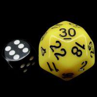 Impact Opaque Yellow & Black D30 Dice