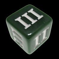 Impact Opaque Green & White Roman Numeral D3 Dice