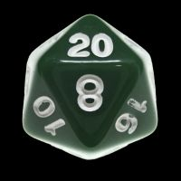 CLEARANCE Impact Opaque Green & White D12 Dice