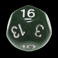 Impact Opaque Green & White D16 Dice