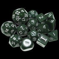 Impact Dungeon Crawl Classics DCC Opaque Green & White 14 Dice Set