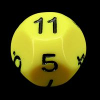 Impact Opaque Yellow & Black D11 Dice