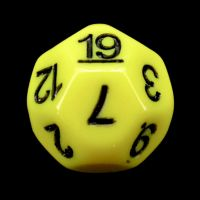 Impact Opaque Yellow & Black D19 Dice