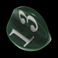 Impact Opaque Green & White Apple Core D3 Dice