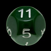 Impact Opaque Green & White D11 Dice