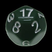 Impact Opaque Green & White D17 Dice