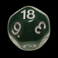 Impact Opaque Green & White D18 Dice