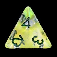 TDSO Yellow Dragon Scale D4 Dice