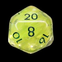 TDSO Yellow Dragon Scale D20 Dice