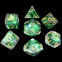 TDSO Green Dragon Scale 7 Dice Polyset