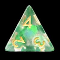TDSO Green Dragon Scale D4 Dice