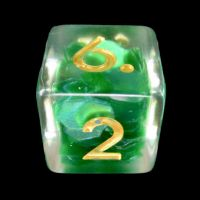 TDSO Green Dragon Scale D6 Dice