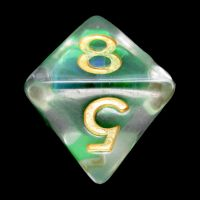 TDSO Green Dragon Scale D8 Dice