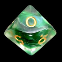 TDSO Green Dragon Scale D10 Dice