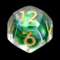 TDSO Green Dragon Scale D12 Dice
