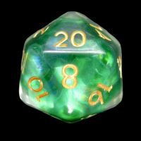 TDSO Green Dragon Scale D20 Dice