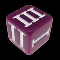 Impact Opaque Light Purple & White Roman Numeral D3 Dice