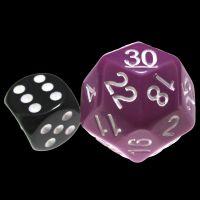 Impact Opaque Light Purple & White JUMBO D30 Dice