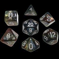TDSO Quartet Copper Gold Silver & Teal 7 Dice Polyset