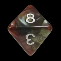 TDSO Quartet Copper Gold Silver & Teal D8 Dice