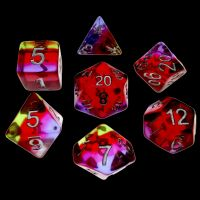 TDSO Layer Pomegranate Blossom 7 Dice Polyset