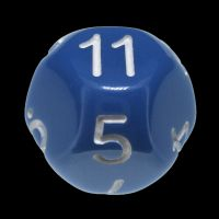 Impact Opaque Light Blue & White D11 Dice