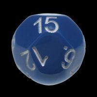 Impact Opaque Light Blue & White D15 Dice