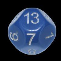 Impact Opaque Light Blue & White D13 Dice