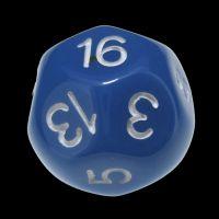 Impact Opaque Light Blue & White D16 Dice