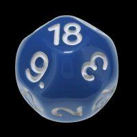 Impact Opaque Light Blue & White D18 Dice