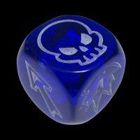 Impact Gem Blue & White D6 Block Dice