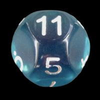 Impact Translucent Gem Teal & White D11 Dice