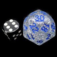 Impact Silver Glitter & Blue D30 Dice
