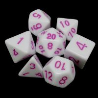 TDSO Wonderful White Dice & Pink 7 Dice Polyset