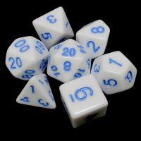 TDSO Wonderful White Dice & Blue 7 Dice Polyset