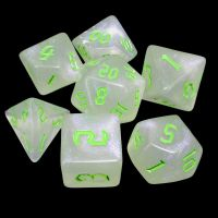 TDSO Gothic Shimmer & Green 7 Dice Polyset