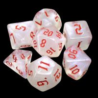TDSO Gothic Shimmer & Red 7 Dice Polyset