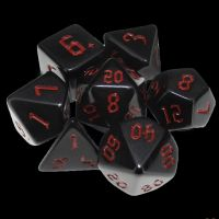 TDSO Gothic Black & Red 7 Dice Polyset