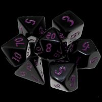 TDSO Gothic Black & Purple 7 Dice Polyset